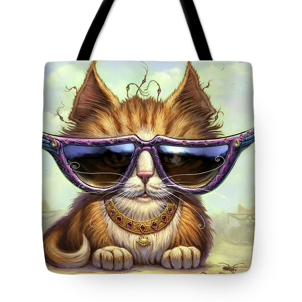 Cat Artwork. Cats Tote Bag featuring the painting Just Be by Jeff Haynie