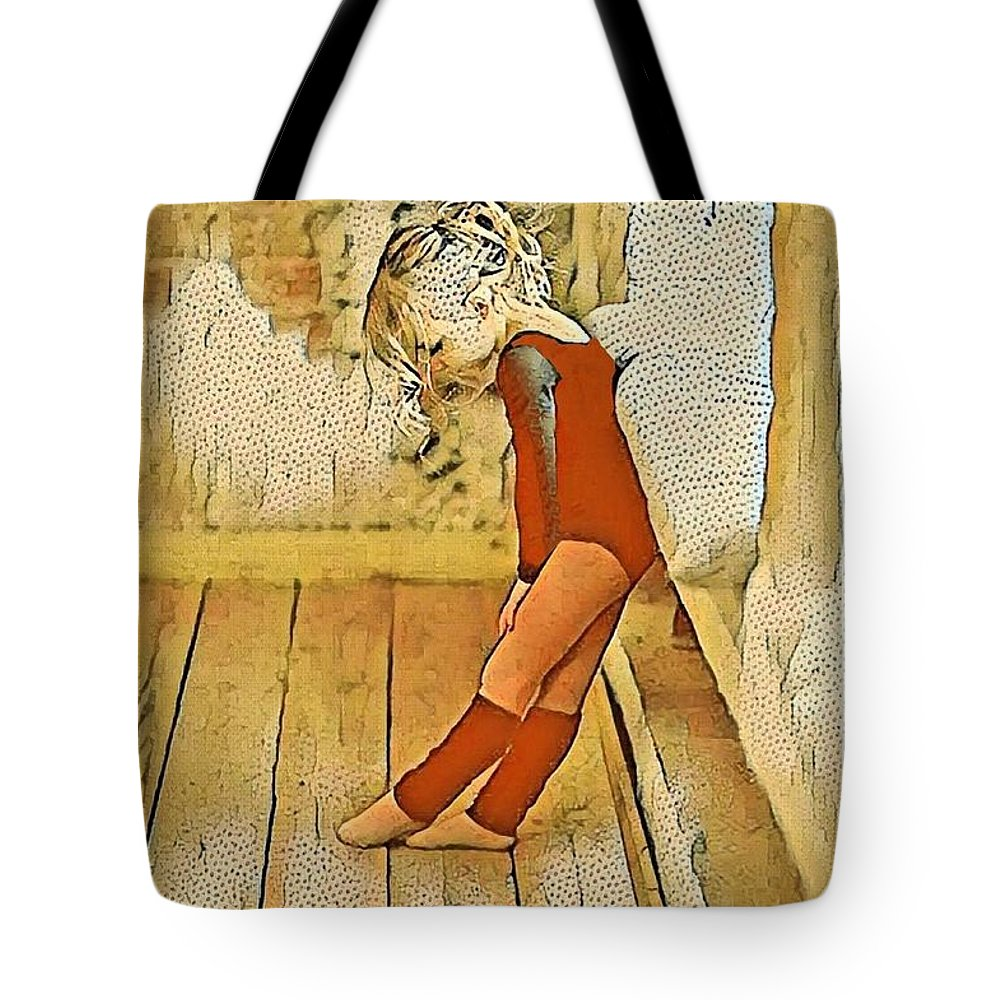 Girl Tote Bag featuring the digital art Just Breathe by Ellen Cannon