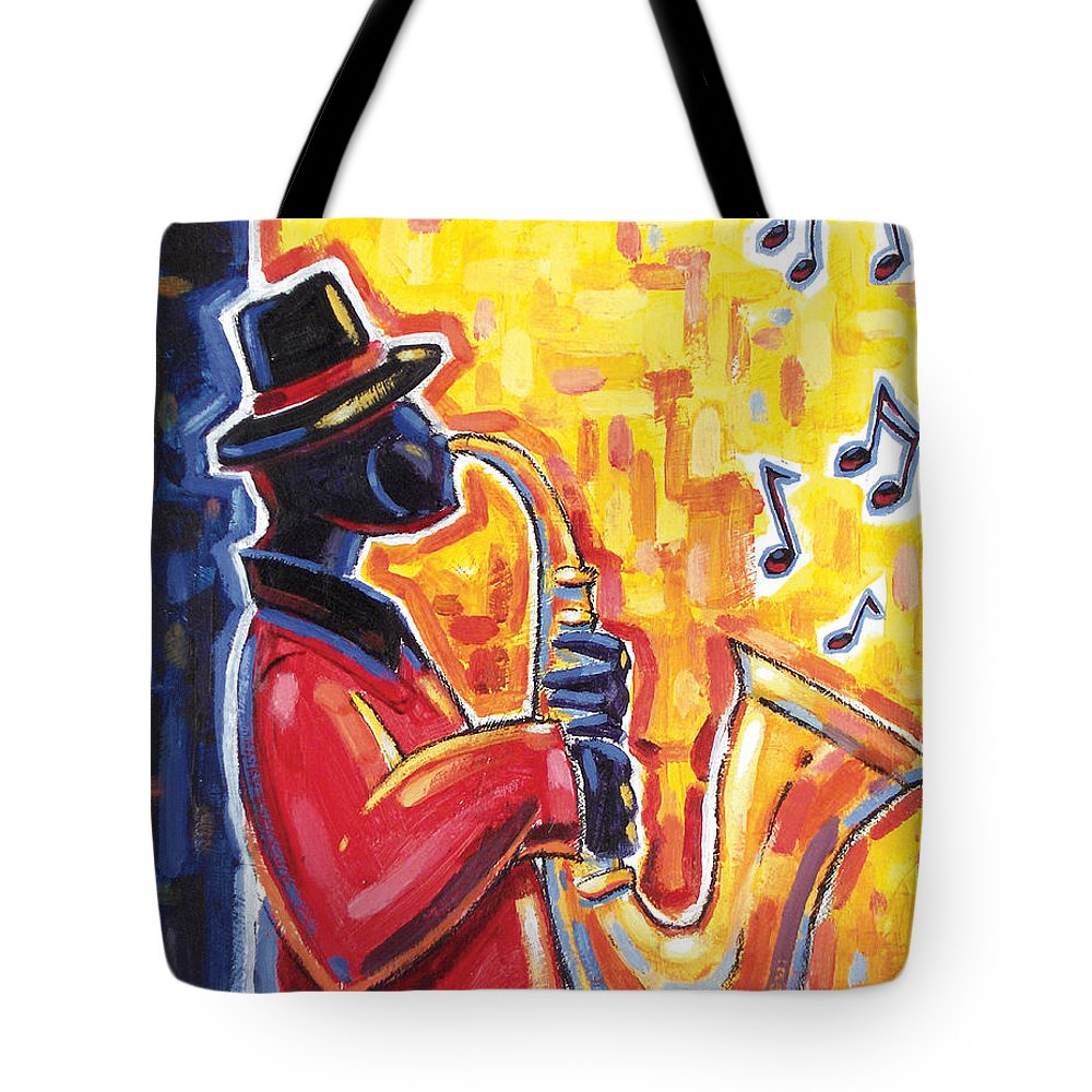 Tote Bag featuring the painting Just Jammin' II by Ken Daley