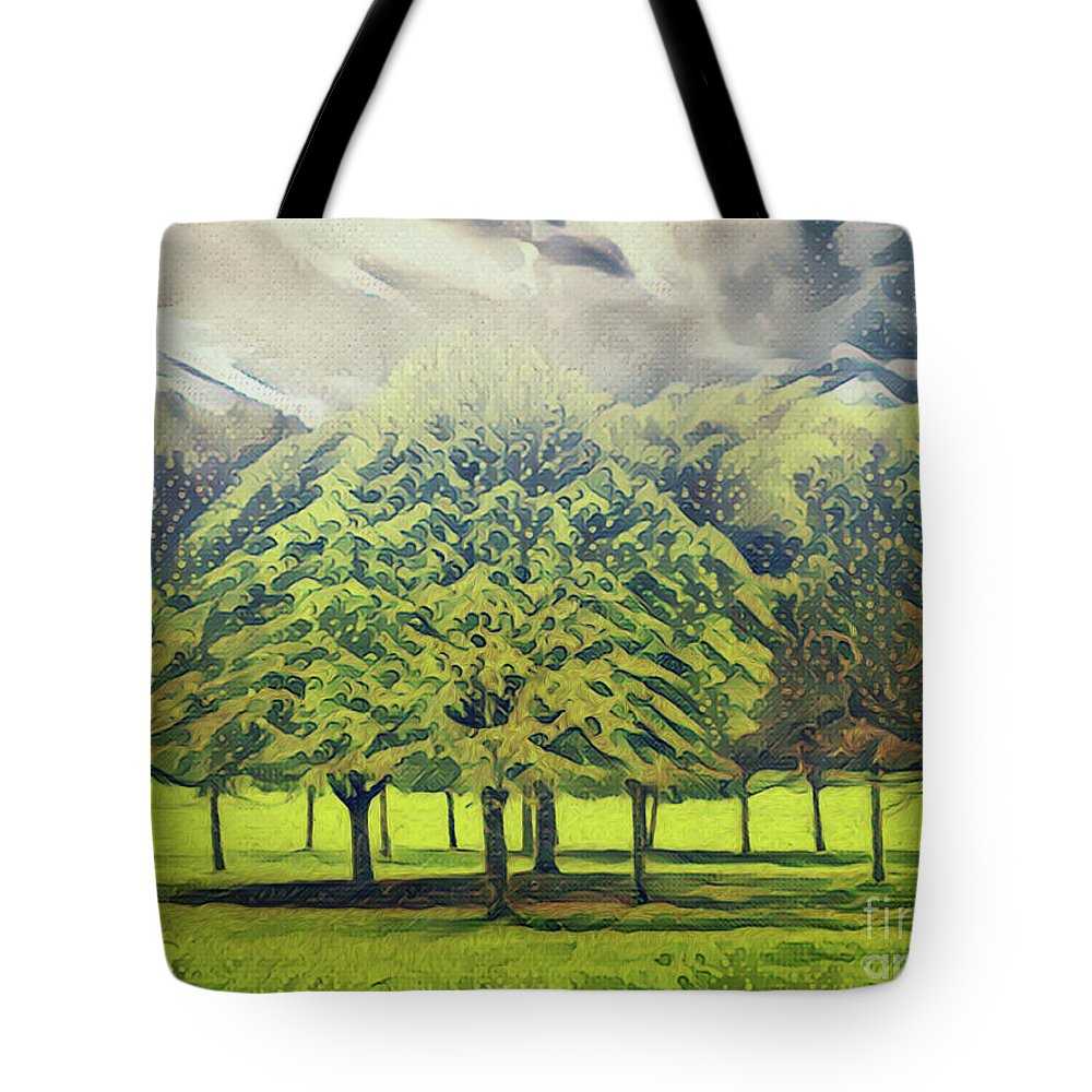 Autumn Tote Bag featuring the photograph Just Trees by Leigh Kemp