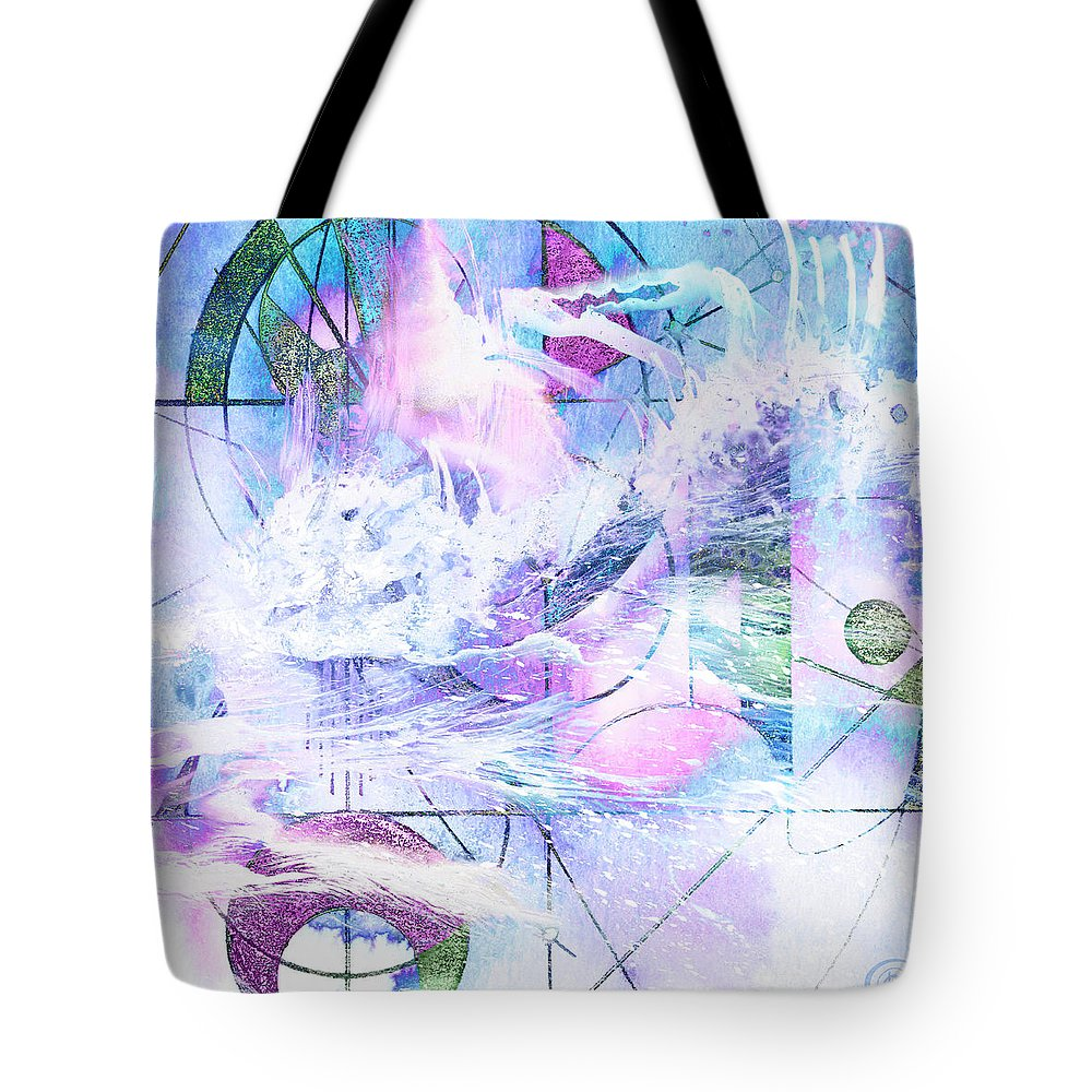 Kaleidoscope Tote Bag featuring the mixed media Kaleidoscope Sea by Chris Cole