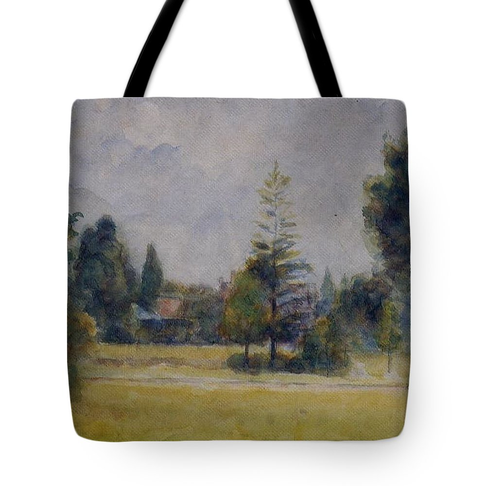 Camille Pissarro Tote Bag featuring the painting Kew Gardens, 1892 02 by Camille Pissarro