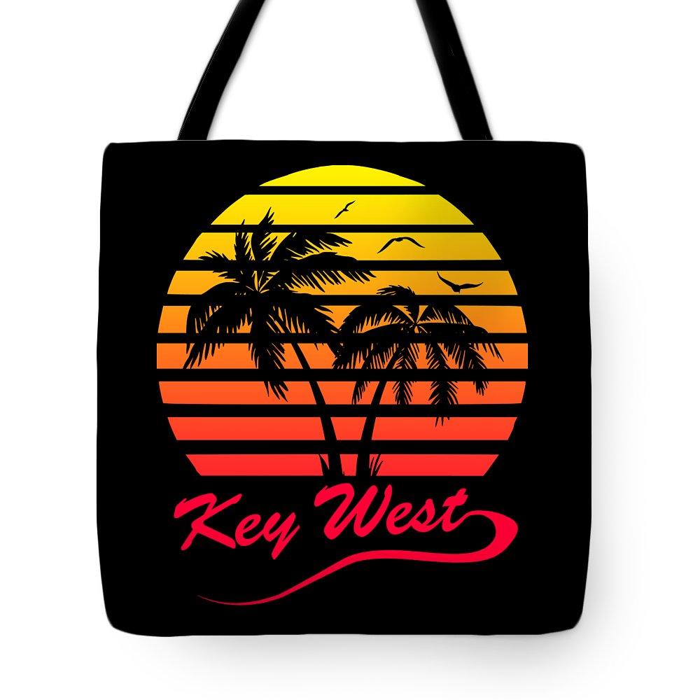 Key Tote Bag featuring the digital art Key West by Filip Schpindel