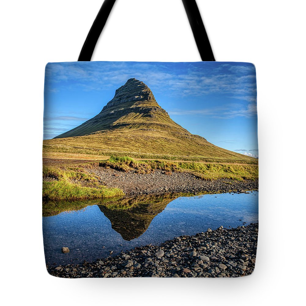David Letts Tote Bag featuring the photograph Kirkjufell Mountain by David Letts