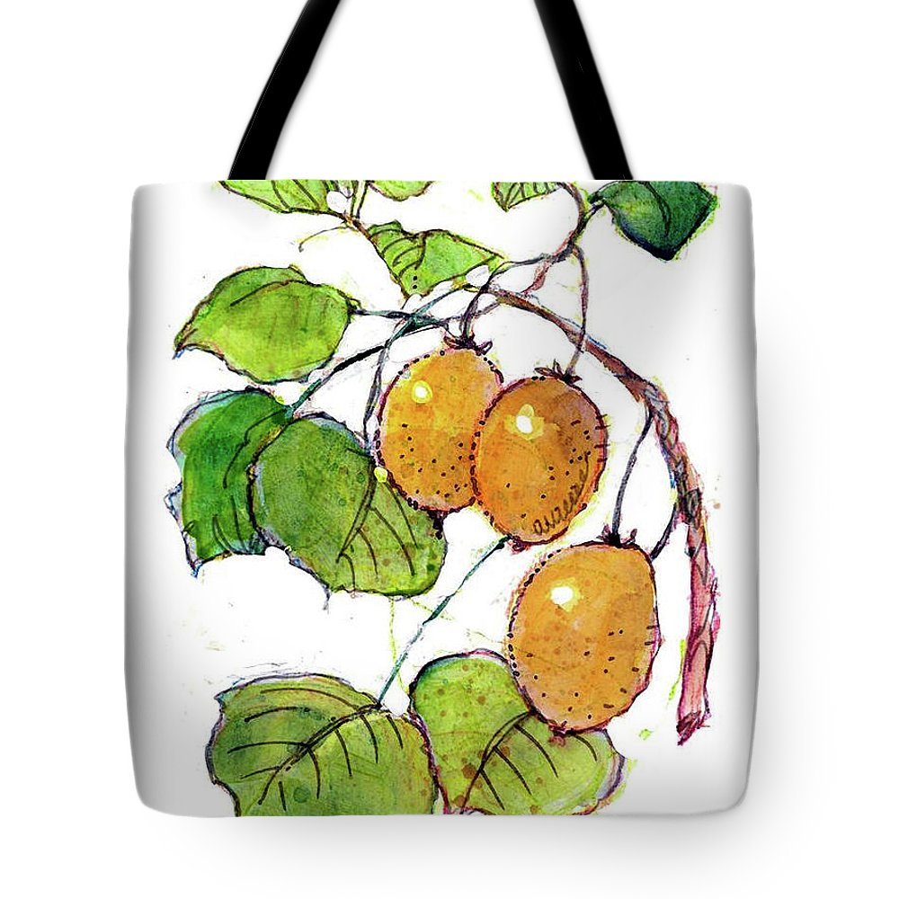 Fruit Watercolor. Fruits Illustration. Fruit Illustration. Fruits Illustrations. Kiwi Watercolor. Tote Bag featuring the painting Kiwi by Dan Nelson