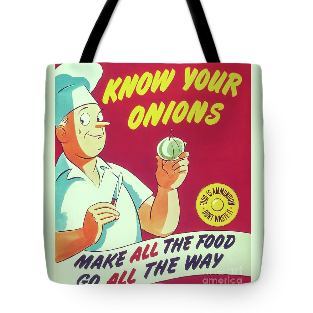 Kitchen Tote Bag featuring the photograph Know Your Onions by Delphimages Photo Creations