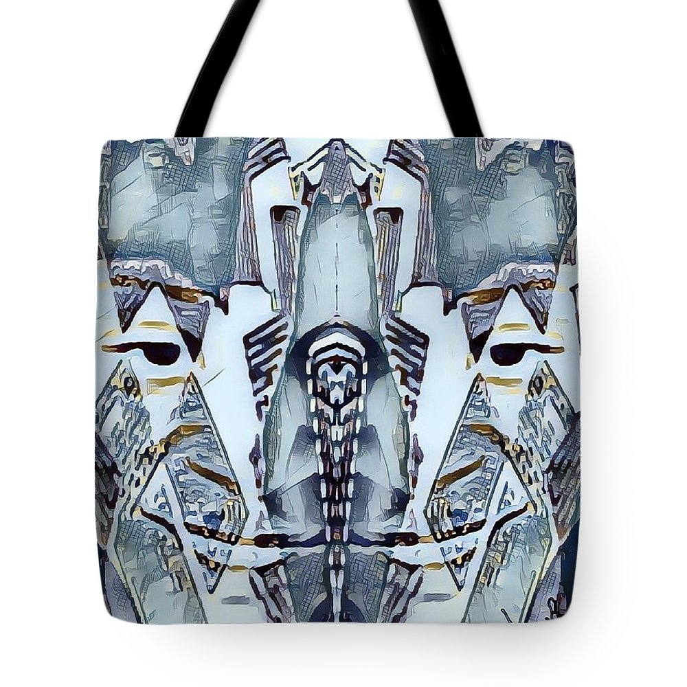 Tote Bag featuring the mixed media Knowledge by Fania Simon