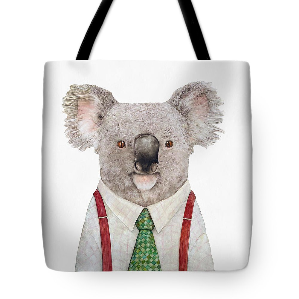 Koala Tote Bag featuring the painting Koala by Animal Crew