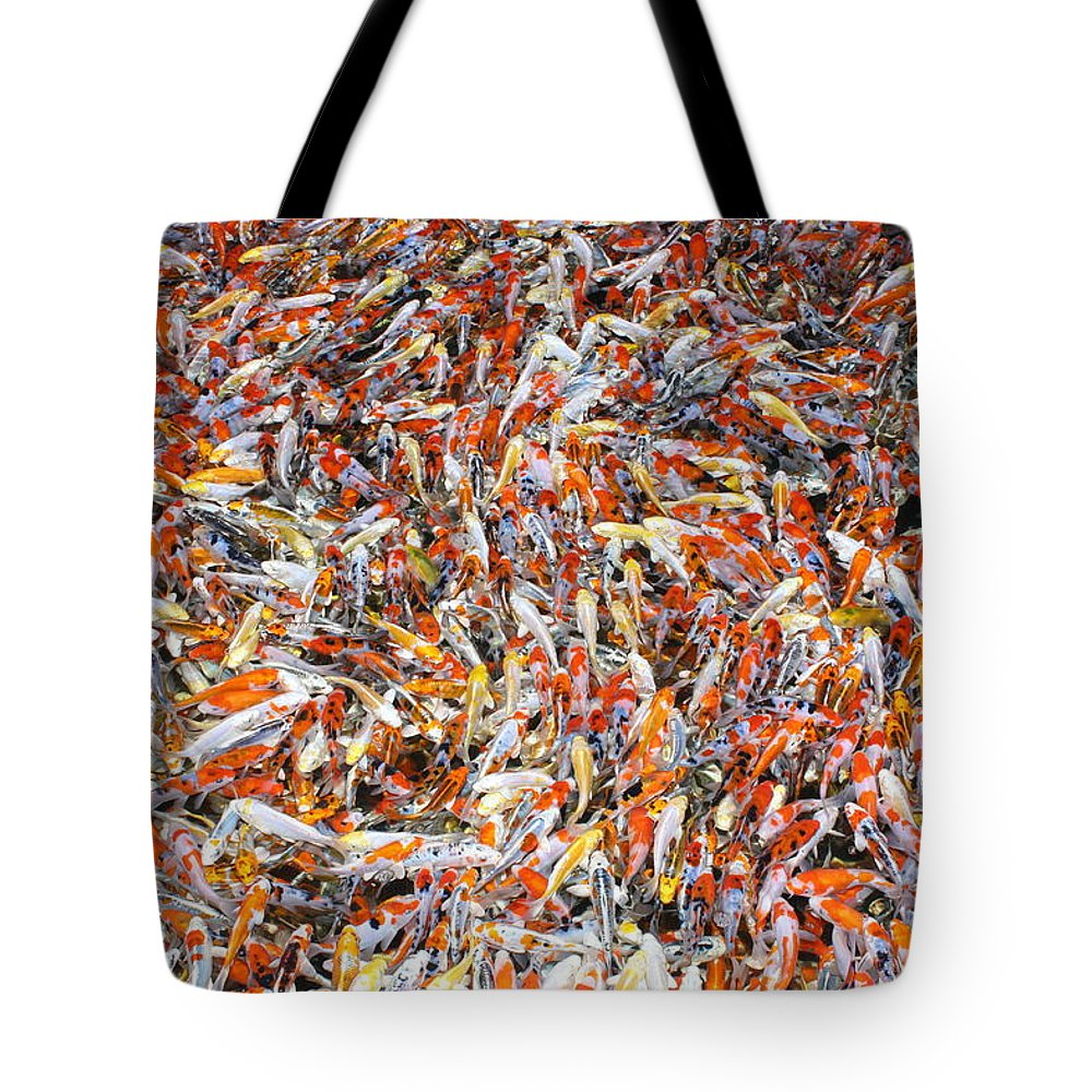 Pets Tote Bag featuring the photograph Koi Jigsaw by Chris Edwards