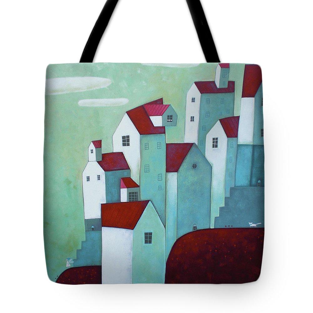 Tranquility Tote Bag featuring the digital art La Mattina Presto by © Illusimi . Simona Dimitri 2013