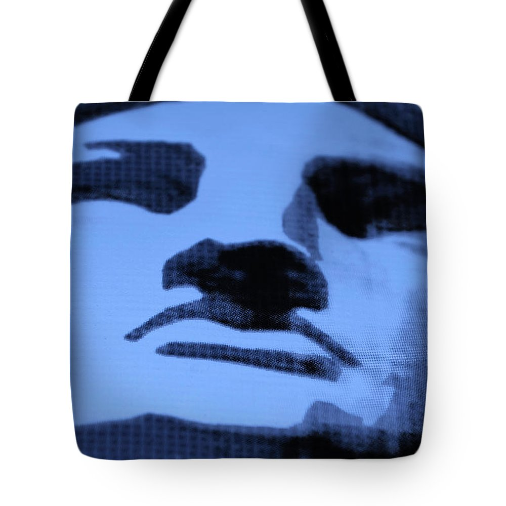 Statue Of Liberty Tote Bag featuring the photograph Lady Liberty In Cyan by Rob Hans
