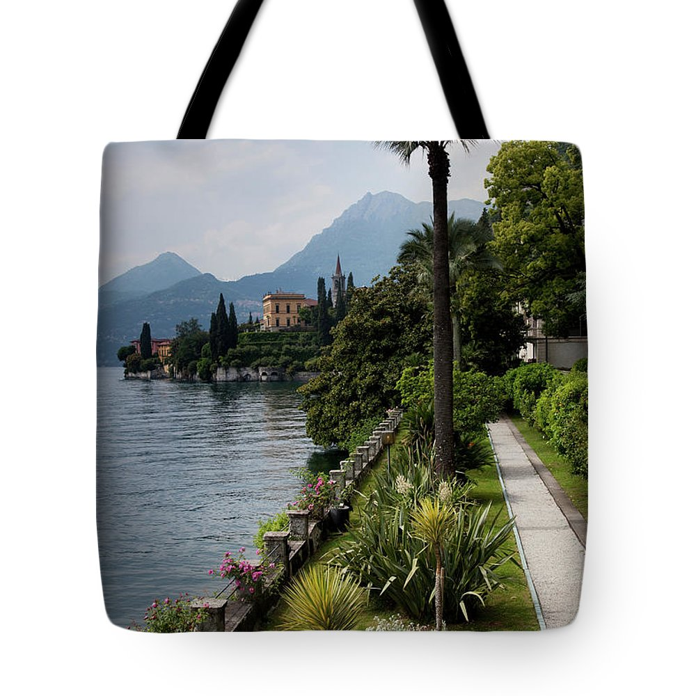 Scenics Tote Bag featuring the photograph Lake Como, Varenna by Walter Bibikow