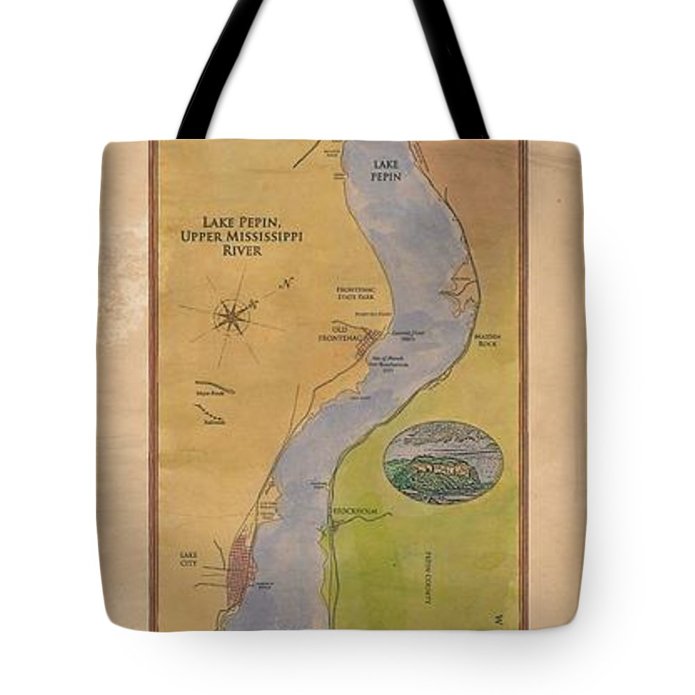 Lake Pepin Tote Bag featuring the painting Lake Pepin by Lisa Middleton