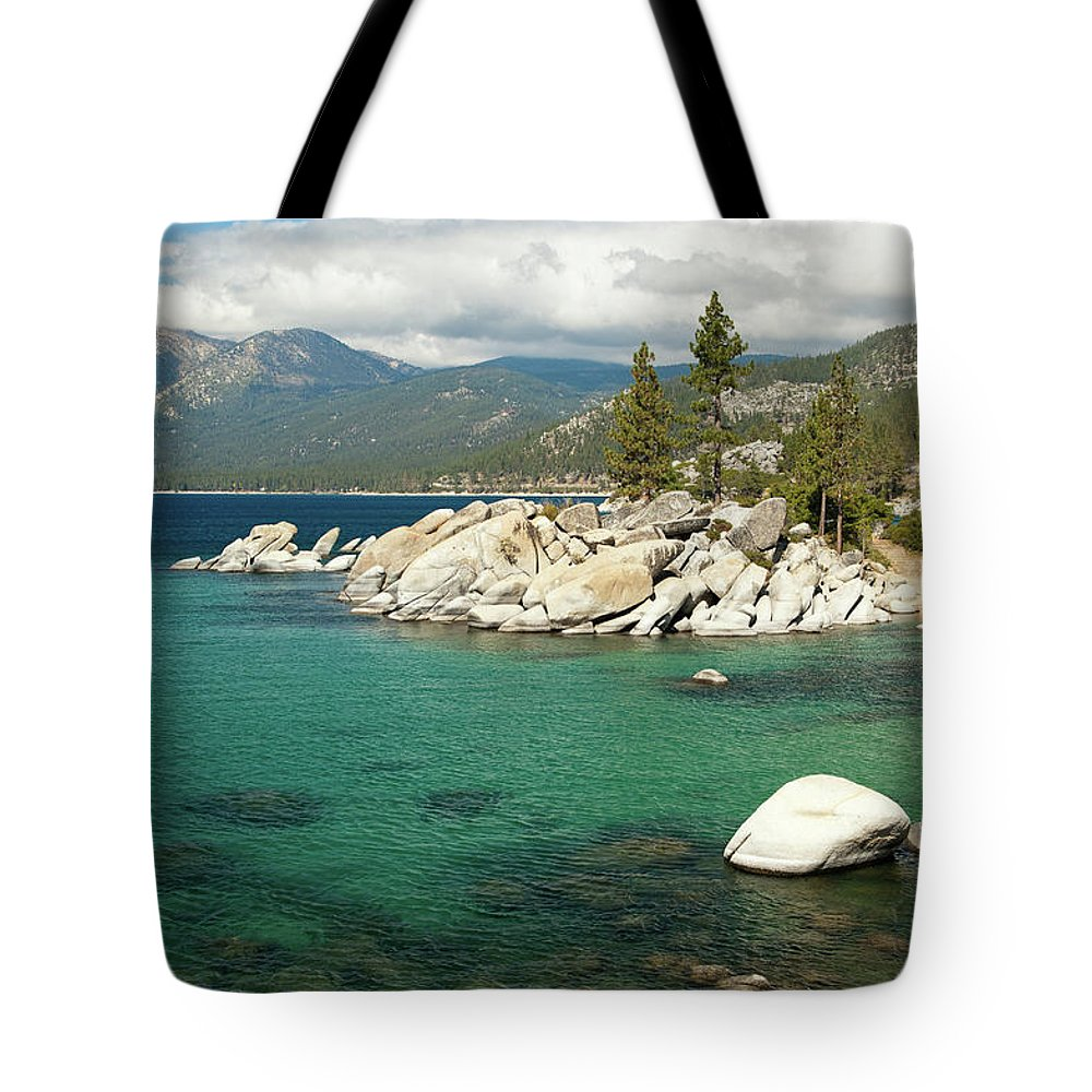 Scenics Tote Bag featuring the photograph Lake Tahoe Landscape by Megan Ahrens