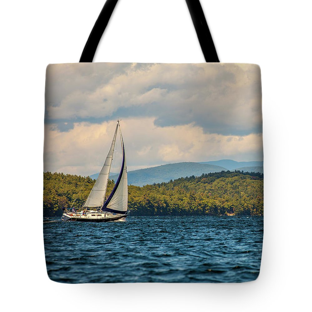 Lake Winnipesaukee Tote Bag featuring the photograph Lake Winnipesaukee Sailing by Trevor Slauenwhite