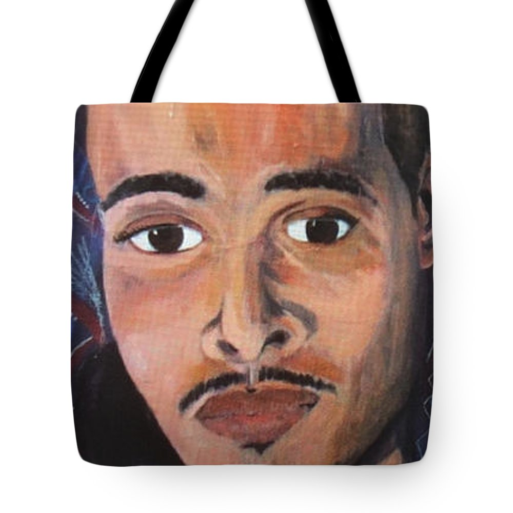 Man Tote Bag featuring the painting LaMor by La'Mora Hardy