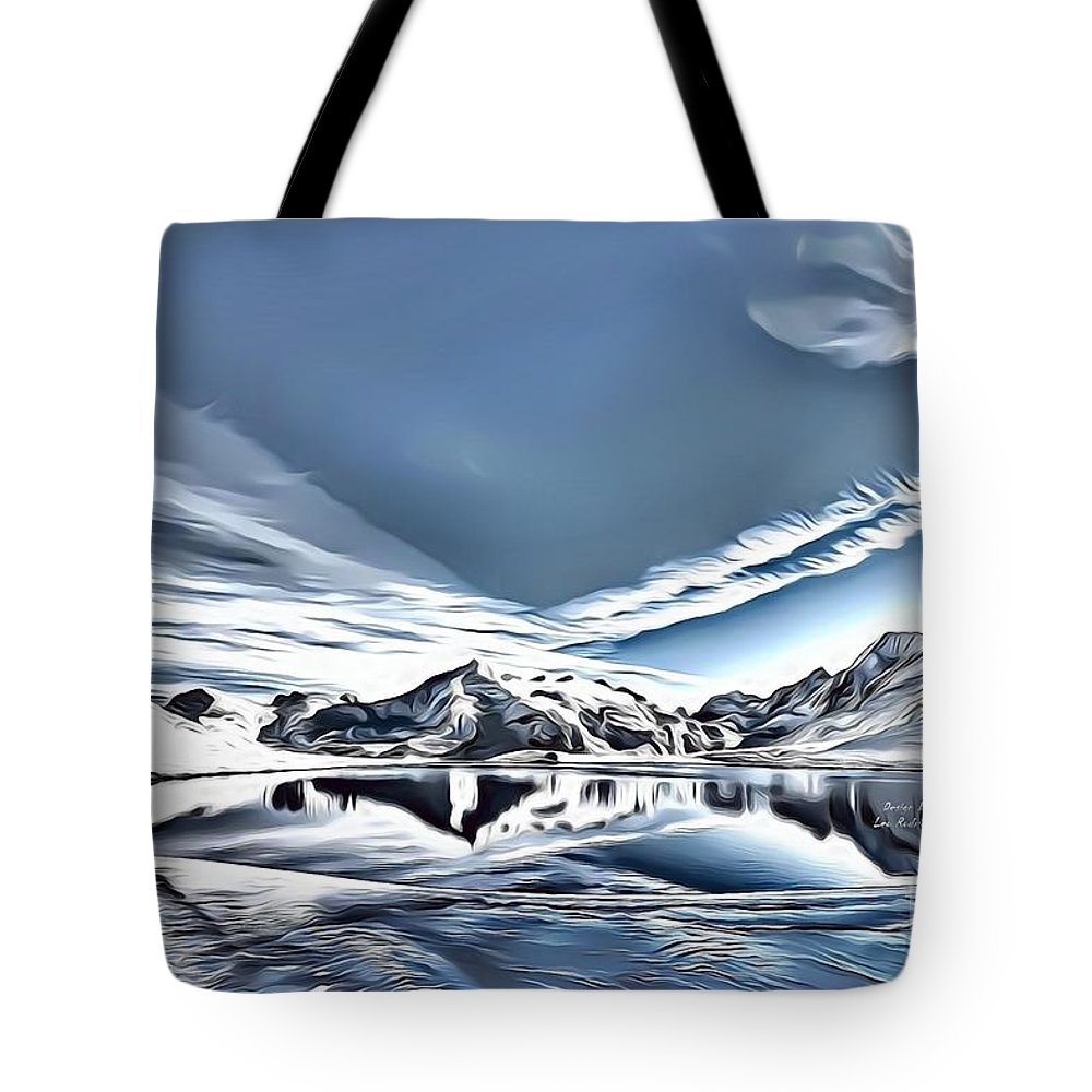 Landscapes Tote Bag featuring the digital art Landscapes 40 by Leo Rodriguez