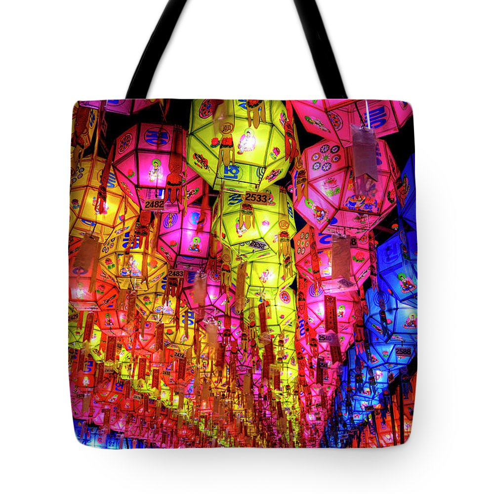 Tranquility Tote Bag featuring the photograph Lanterns Hanging by Jason Teale Photography Www.jasonteale.com
