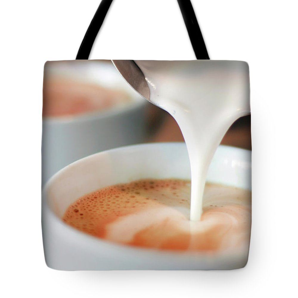 Breakfast Tote Bag featuring the photograph Latte by Sf foodphoto