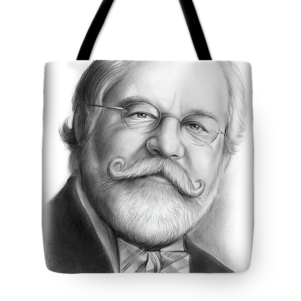 Ty Cobb Tote Bag featuring the drawing Lawyer Ty Cobb by Greg Joens