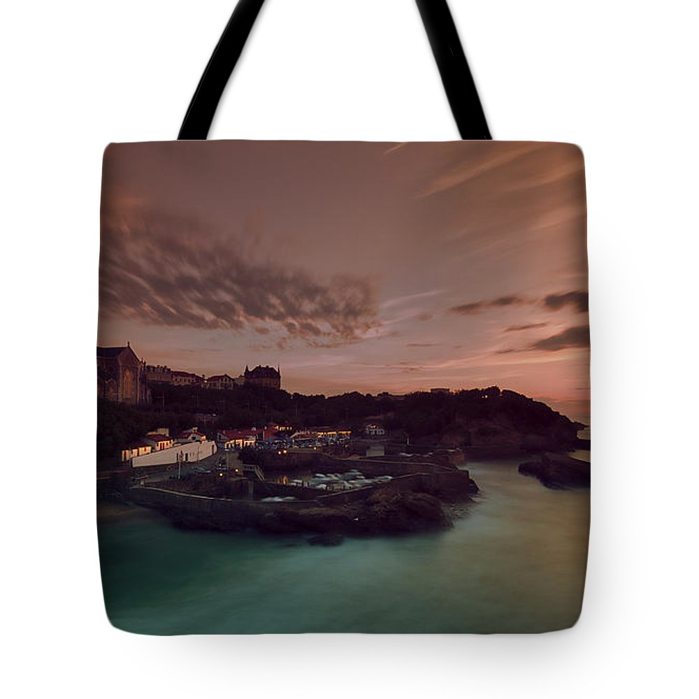 Calm Tote Bag featuring the digital art Le Port Des Pecheurs by Dariusz Stec