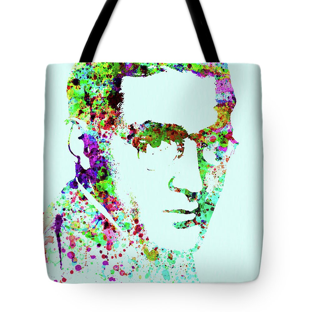 Benny Goodman Tote Bag featuring the mixed media Legendary Benny Goodman Watercolor by Naxart Studio