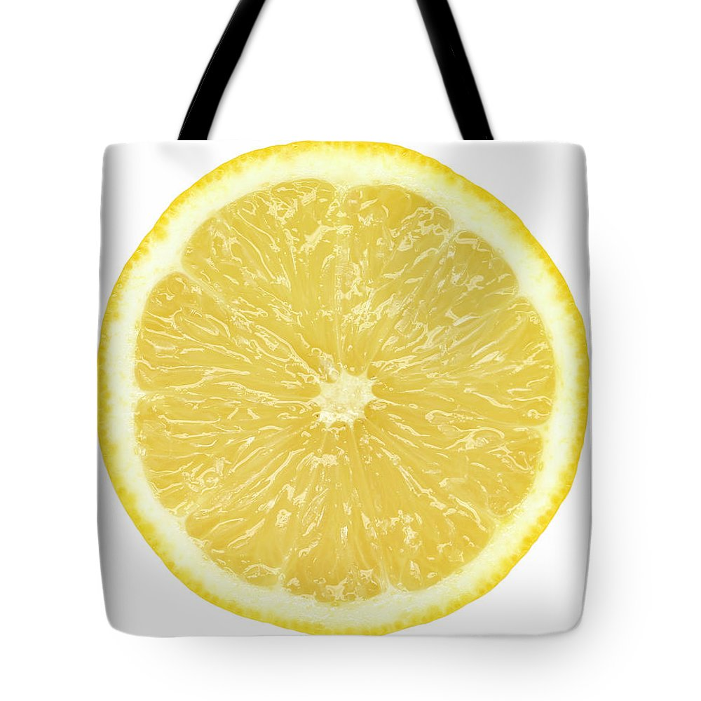 Limon Province Tote Bag featuring the photograph Lemon by Suzifoo