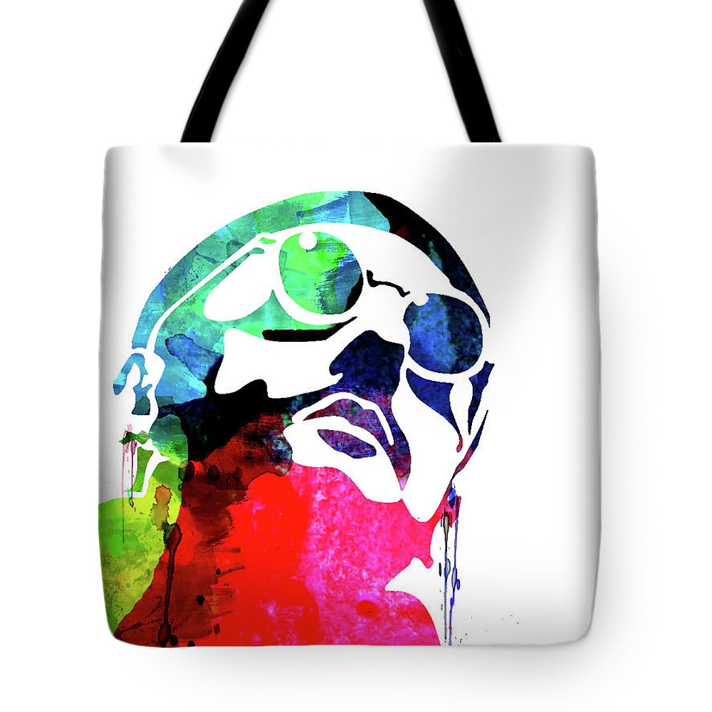 Movies Tote Bag featuring the mixed media Leon Watercolor II by Naxart Studio