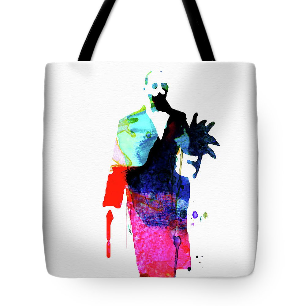 Movies Tote Bag featuring the mixed media Leon Watercolor by Naxart Studio