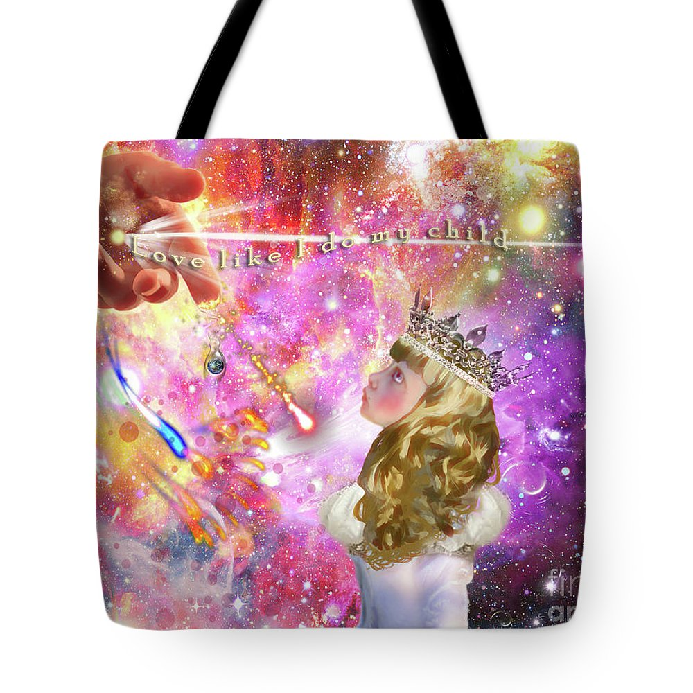Perfect Love Tote Bag featuring the digital art Lesson In Love by Dolores Develde