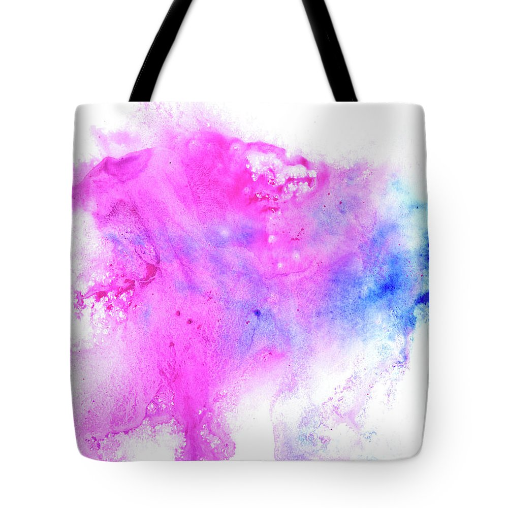 Art Tote Bag featuring the digital art Lilac Blot by Pobytov