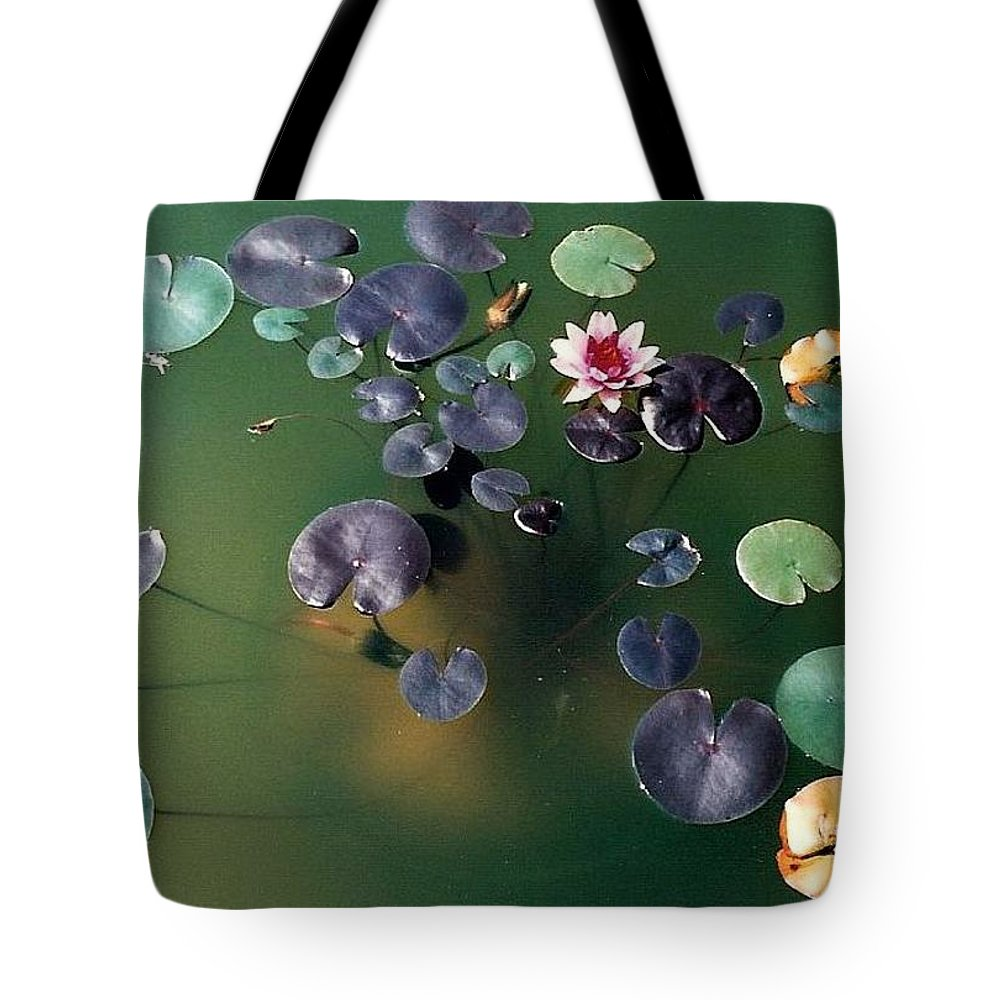 1980-1989 Tote Bag featuring the photograph Lillypad by Margherita Wohletz