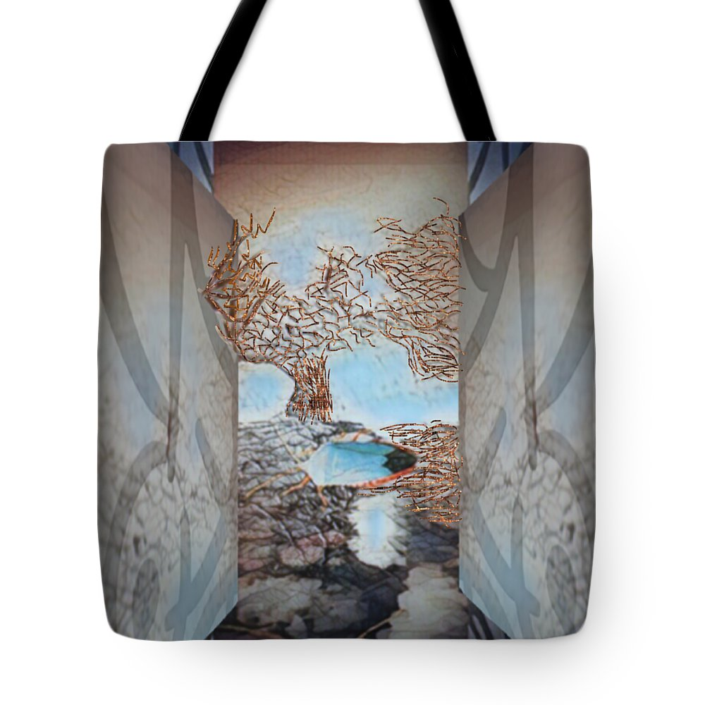 Tree Tote Bag featuring the mixed media Limbo by Marcia Kaye Rogers