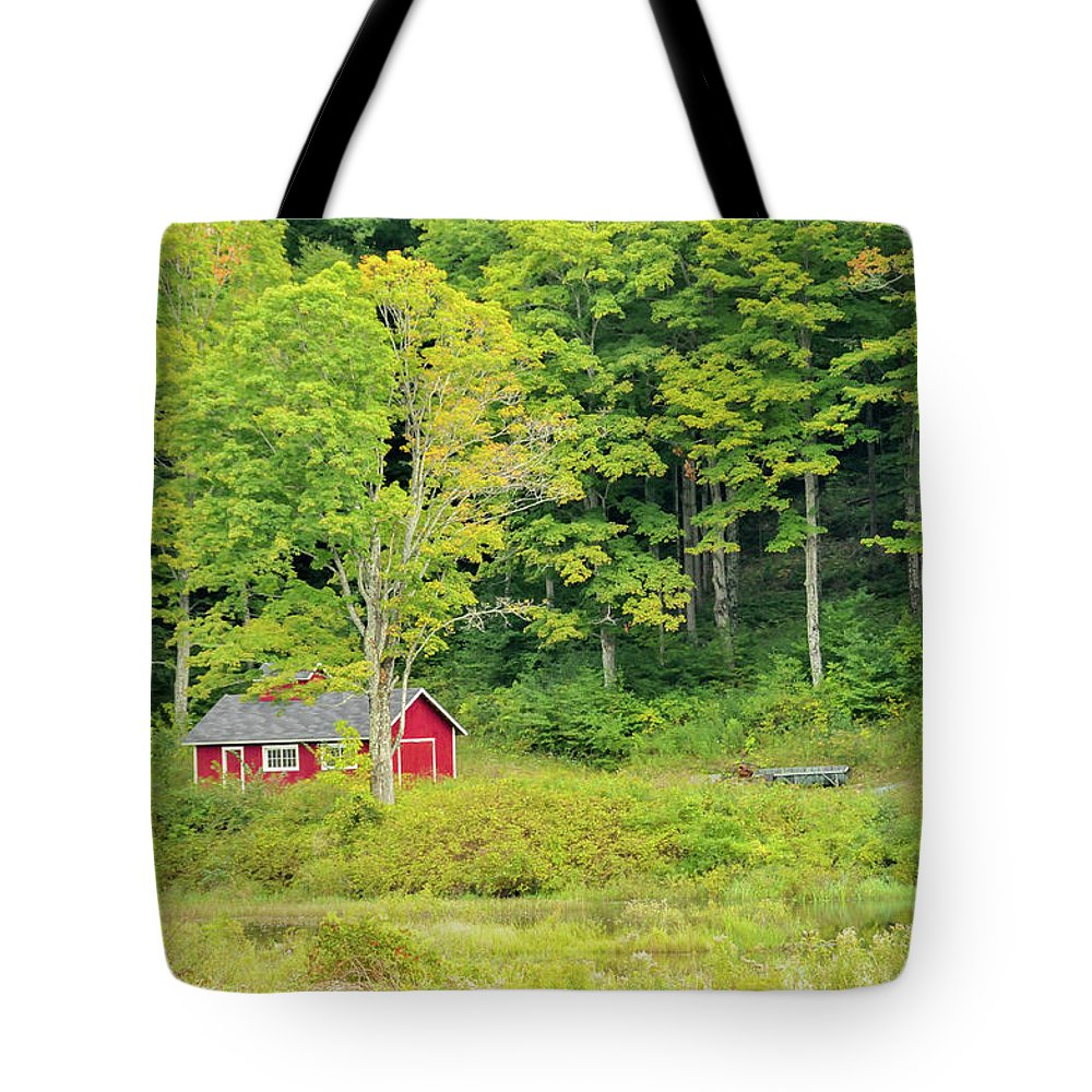 House Tote Bag featuring the photograph Little Red House by Charles Eberson