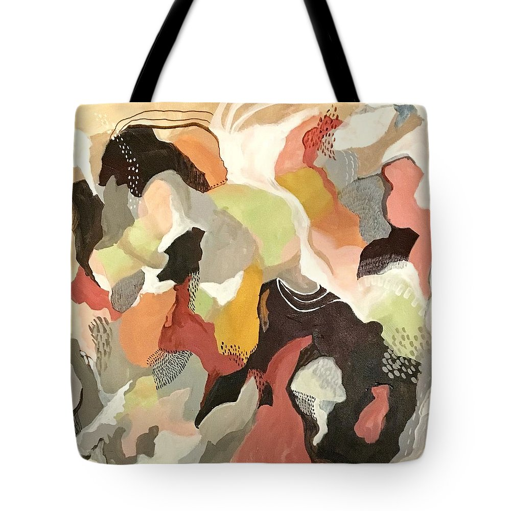 Abstractart Tote Bag featuring the painting Living In Harmony by Suzzanna Frank