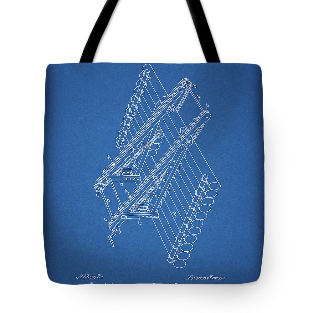 Log Loader Patent Tote Bag featuring the drawing Log Loader Patent by Dan Sproul