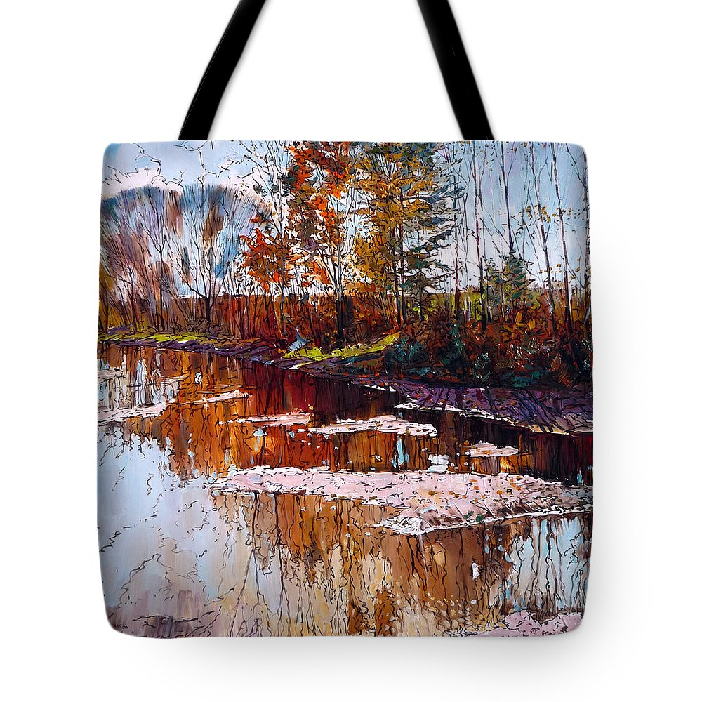Tranquility Tote Bag featuring the digital art Lonely Days by Colorfull Landscape