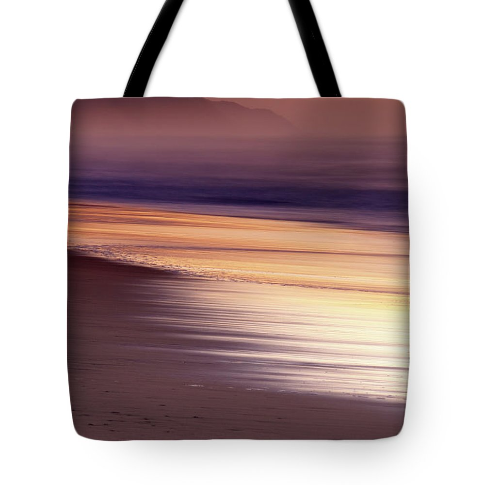 Tranquility Tote Bag featuring the photograph Long Exposure Of Water At Dawn With by Emil Von Maltitz