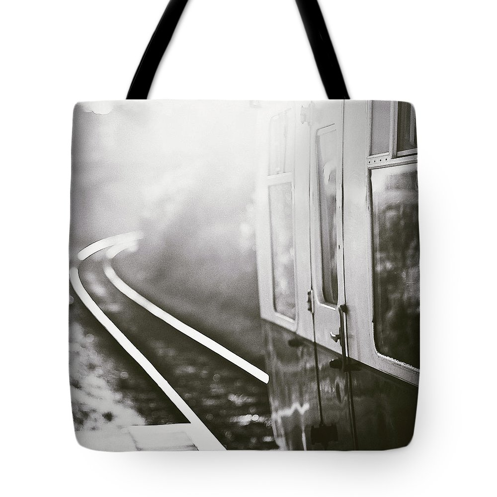 Train Tote Bag featuring the photograph Long Train Running by James Homer