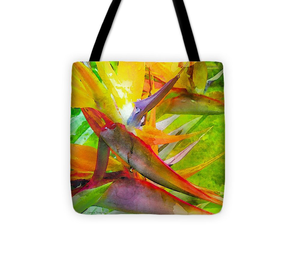 Tropical Tote Bag featuring the digital art Tropical by James Temple