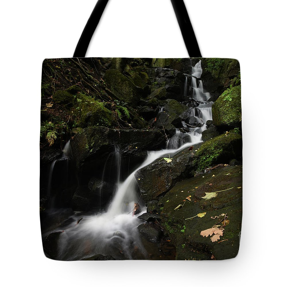 Yhun Suarez Tote Bag featuring the photograph Lumsdale Falls 9.0 by Yhun Suarez