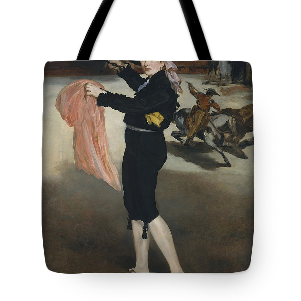 Edouard Manet Tote Bag featuring the painting Mademoiselle V   In The Costume Of An Espada by Edouard Manet