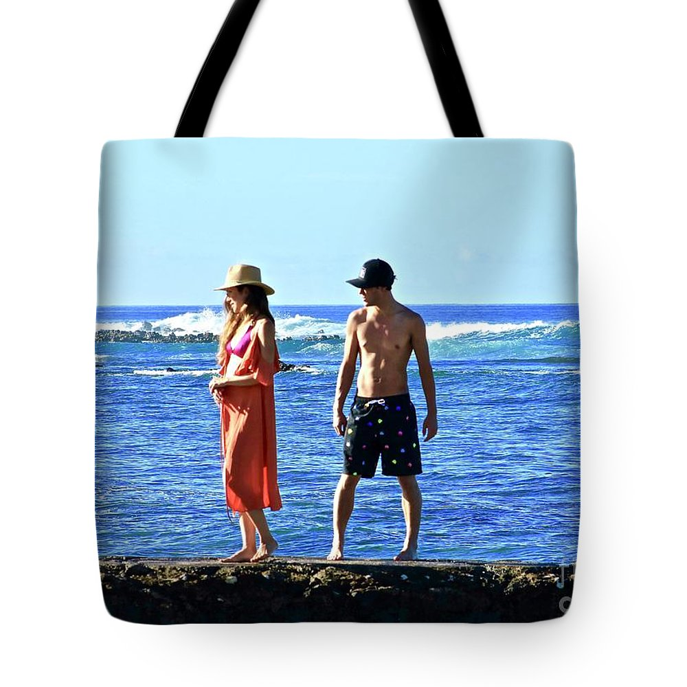 Filming Of Magnum P.i. 2018 Tote Bag featuring the photograph Magnum P.i. 2018 by Craig Wood
