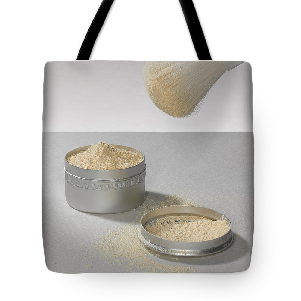 Heap Tote Bag featuring the photograph Make Up Powder by Adrian Burke
