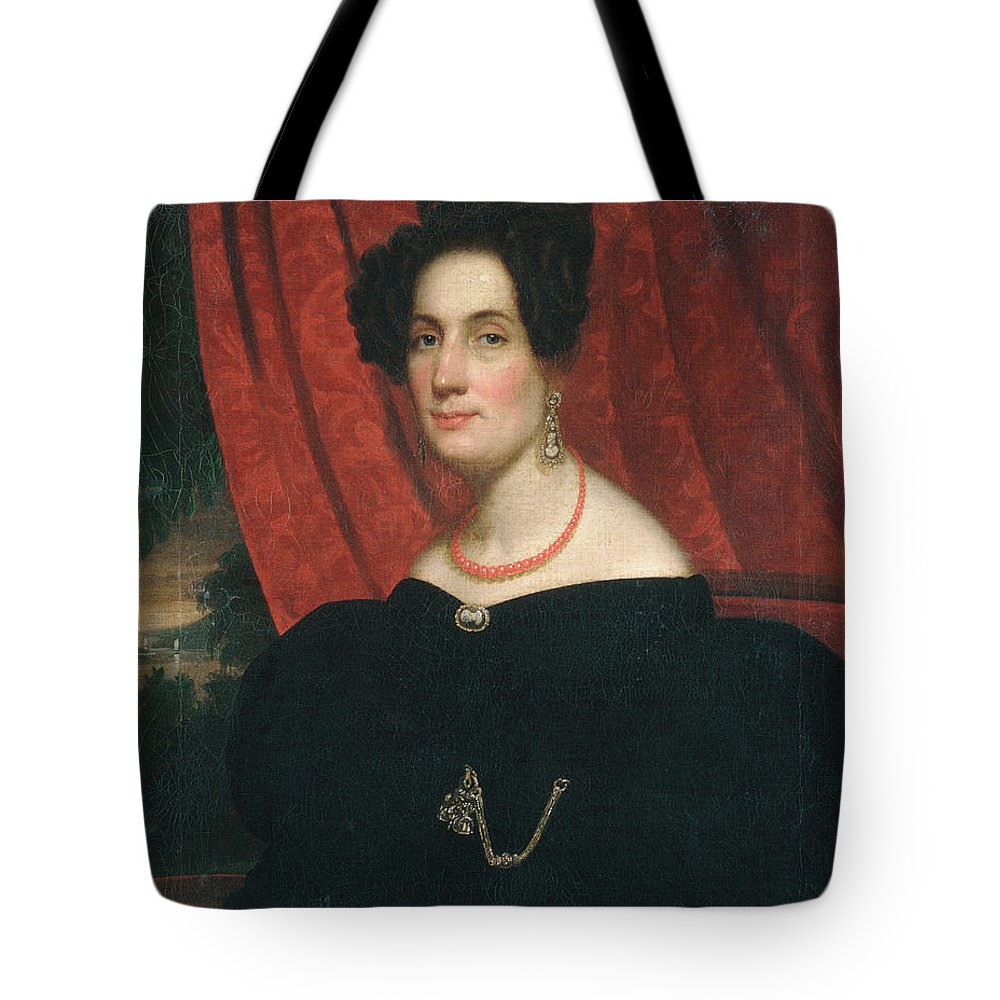 Frederick R. Spencer Tote Bag featuring the painting Mary Ann Garrits by Frederick R Spencer