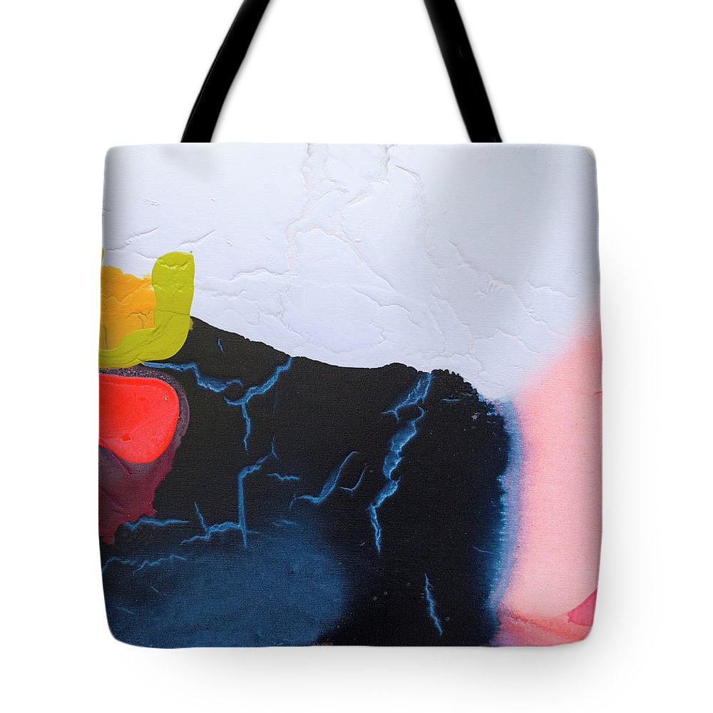 Abstract Tote Bag featuring the painting Maya 01 by Claire Desjardins