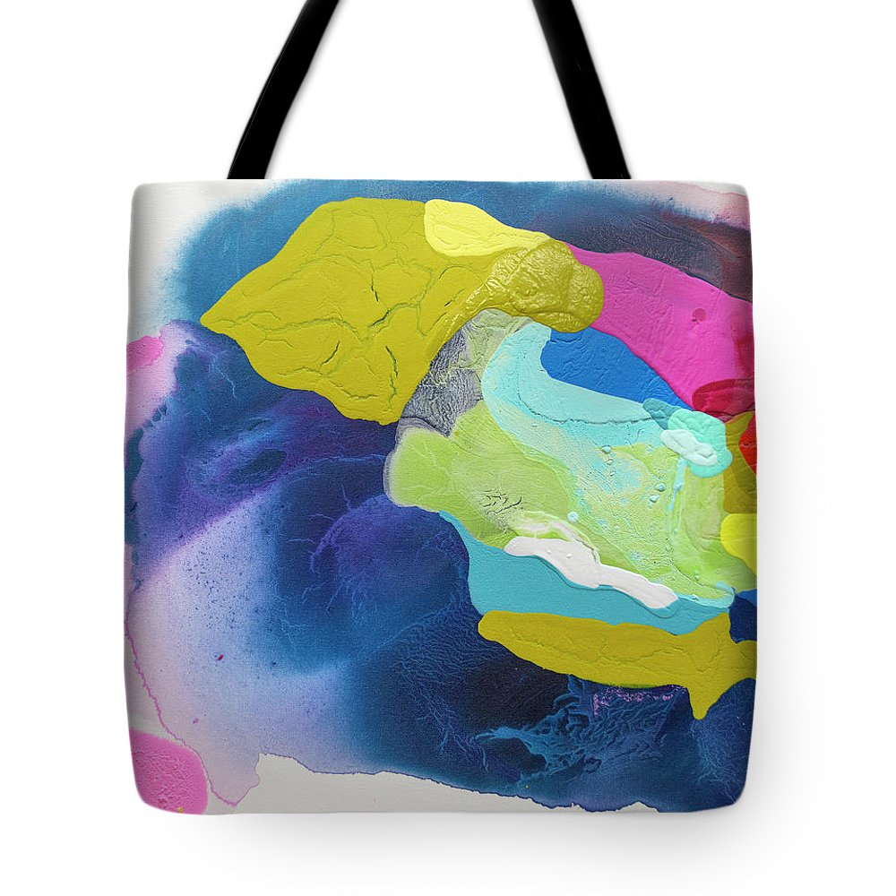 Abstract Tote Bag featuring the painting Maya 02 by Claire Desjardins