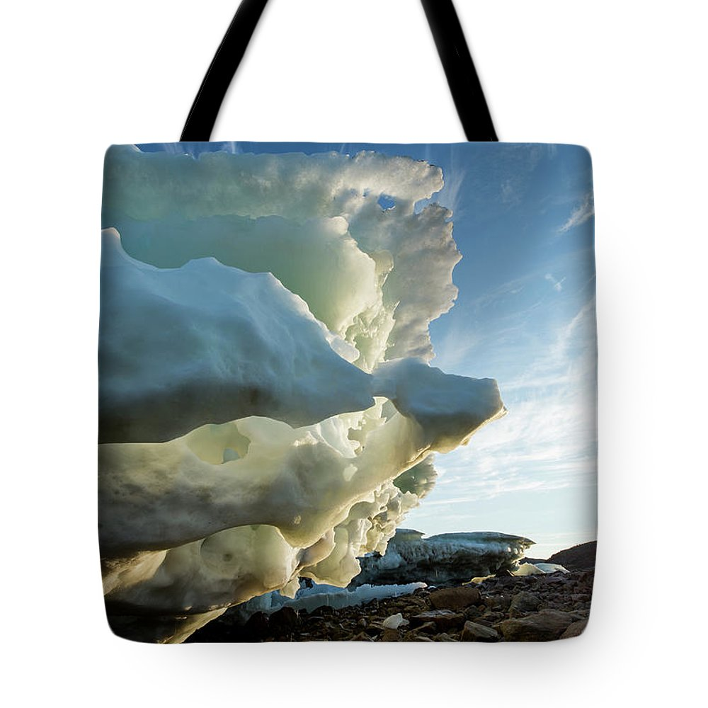 Scenics Tote Bag featuring the photograph Melting Iceberg, Nunavut Territory by Paul Souders