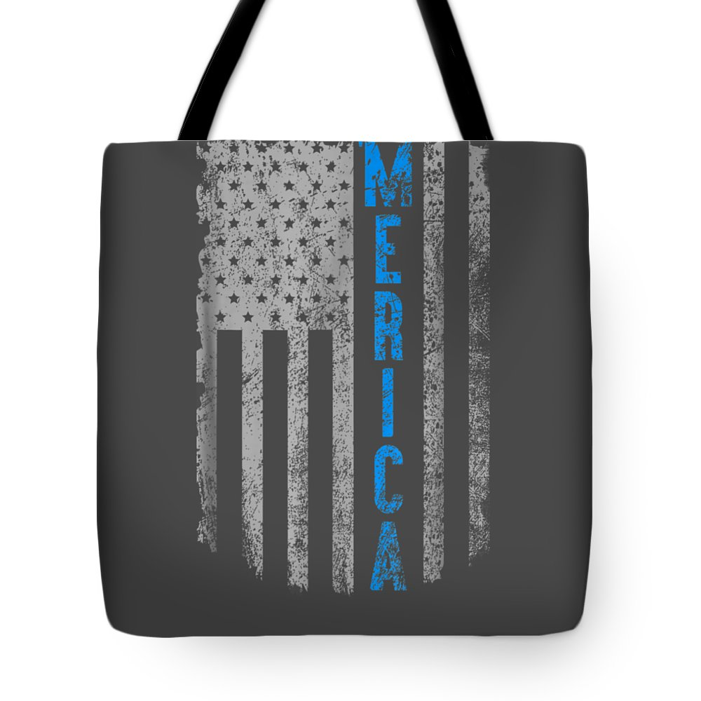 girls' Novelty Clothing Tote Bag featuring the digital art 'merica American Flag Vintage Men Women Gift 2018 T-shirt by Unique Tees