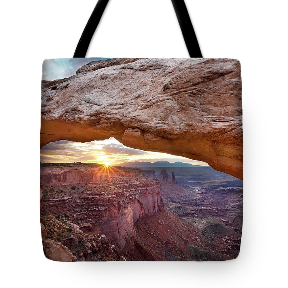Tranquility Tote Bag featuring the photograph Mesa Arch, Canyonlands, Utah by Simon J Byrne